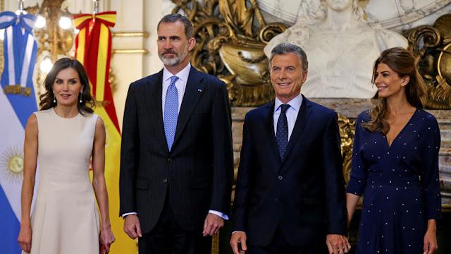 Macri recibe el apoyo de los reyes de España por sus políticas de gobierno