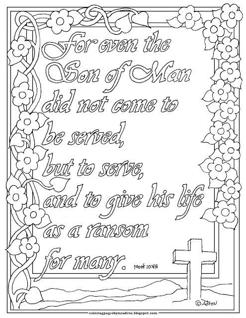 coloring pages for kids by mr  adron  mark 10 45 print and color page  the son of man did not