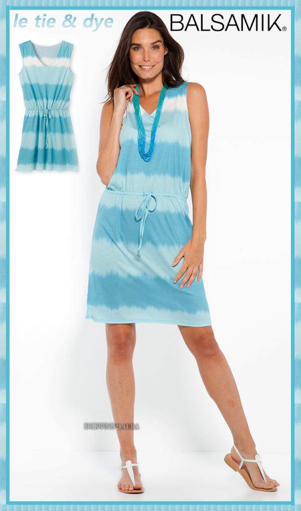 Robe tie &dye bleu azur BALSAMIK