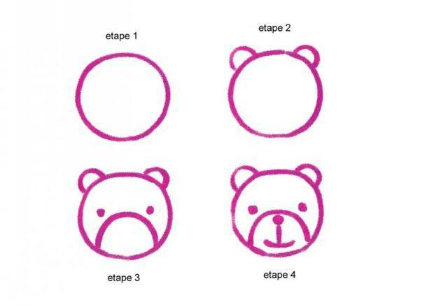Learn to draw a bear for kids
