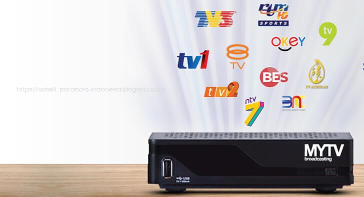 Daftar Channel dari MYTV Broadcasting Malaysia