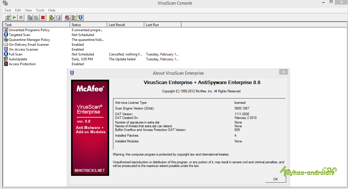 vse 8.8 patch 6 for windows 10