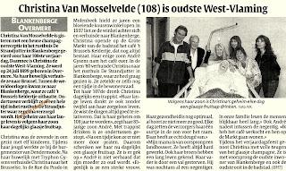 De 108-jarige Christina van Mosselvelde ruilde haar trappist in voor een dagelijks glaasje fruitsap