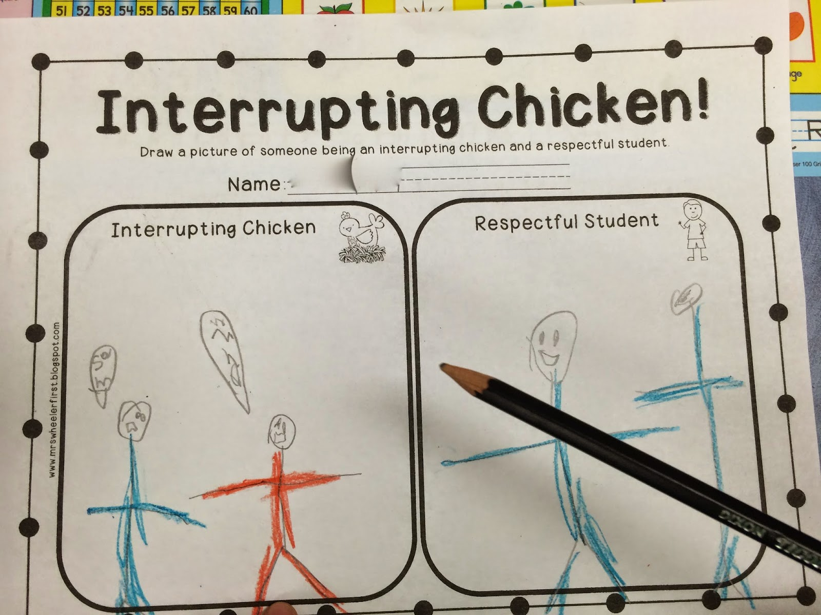 Chicken Worksheet For Kindergarten