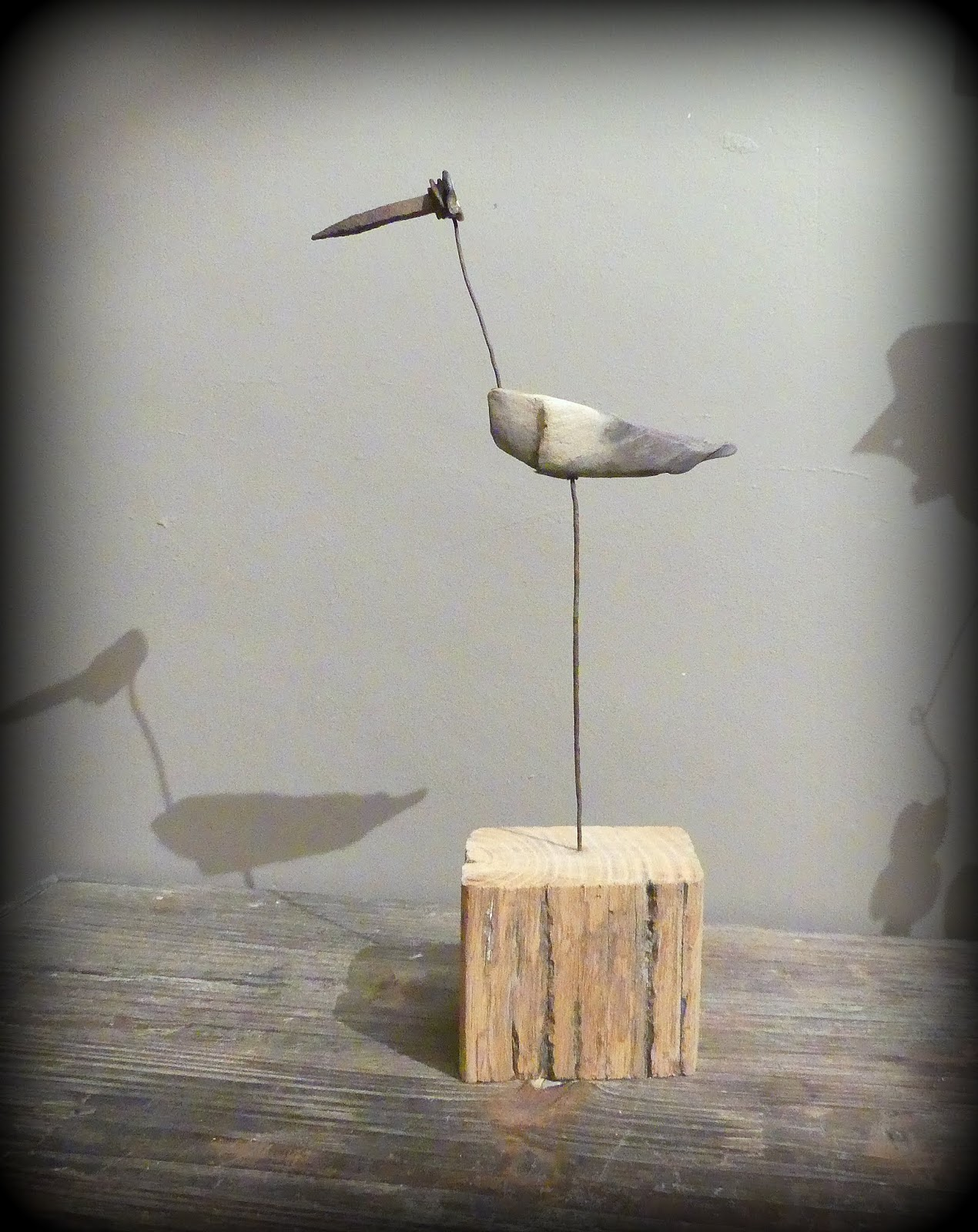 Créations En Bois Flotté mutoz inc. art en bois flotté: une aigrette ! création en