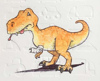 Tyrannosaurus Velociraptor Fracture eustreptospondylus