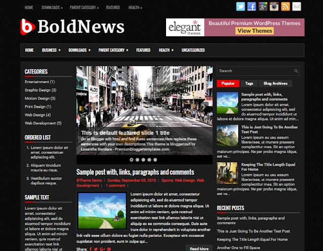 BoldNews blogger template