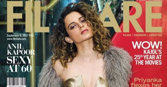 Hot Sexy Bollywood Actress Kangana Ranaut Latest FilmFare Photoshoot gallery