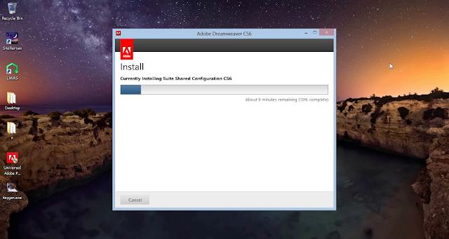 Tunggu sampai proses instal selesai.