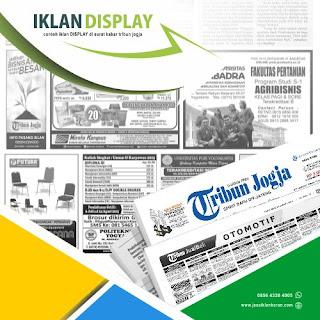 pasang Iklan Display koran Tribun Jogja