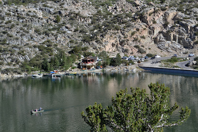 dam, launch ramp, parking, fishing in Lake Sabrina