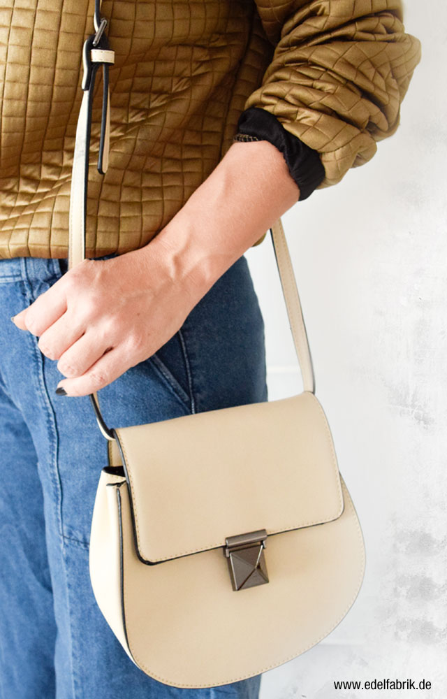 Cremefarbene Handtasche von C&A, Ü40 Mode