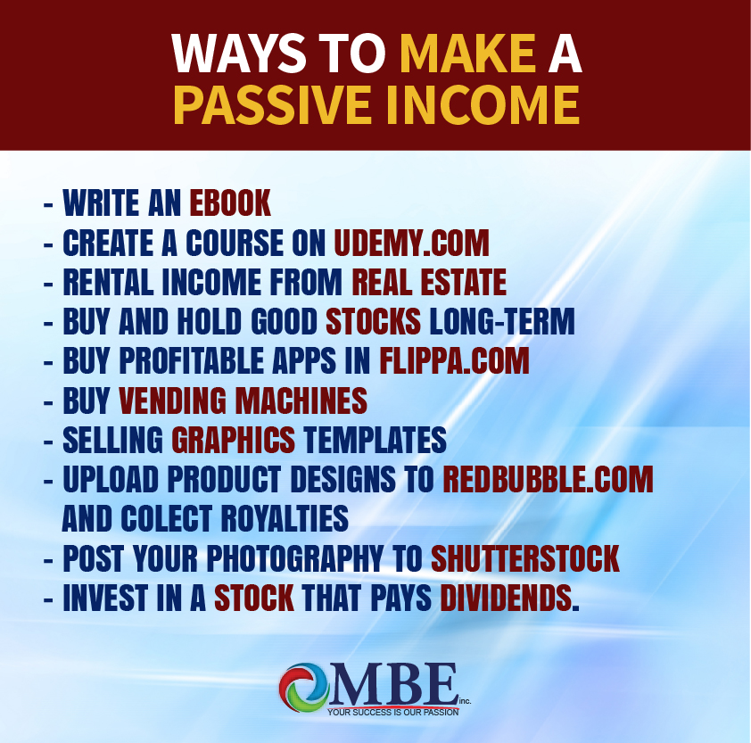 Top 10 Ways to make a Passive Income