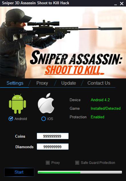 Sniper 3D Assassin Shoot to Kill Hack Tool ~ Online Android