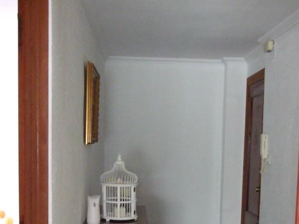 Antes y después del recibidor y pasillo + habitación pequeña
