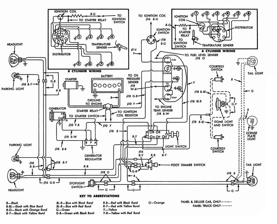 1958 Ford F100 Parts Ignition Switch Schematic Diagram on