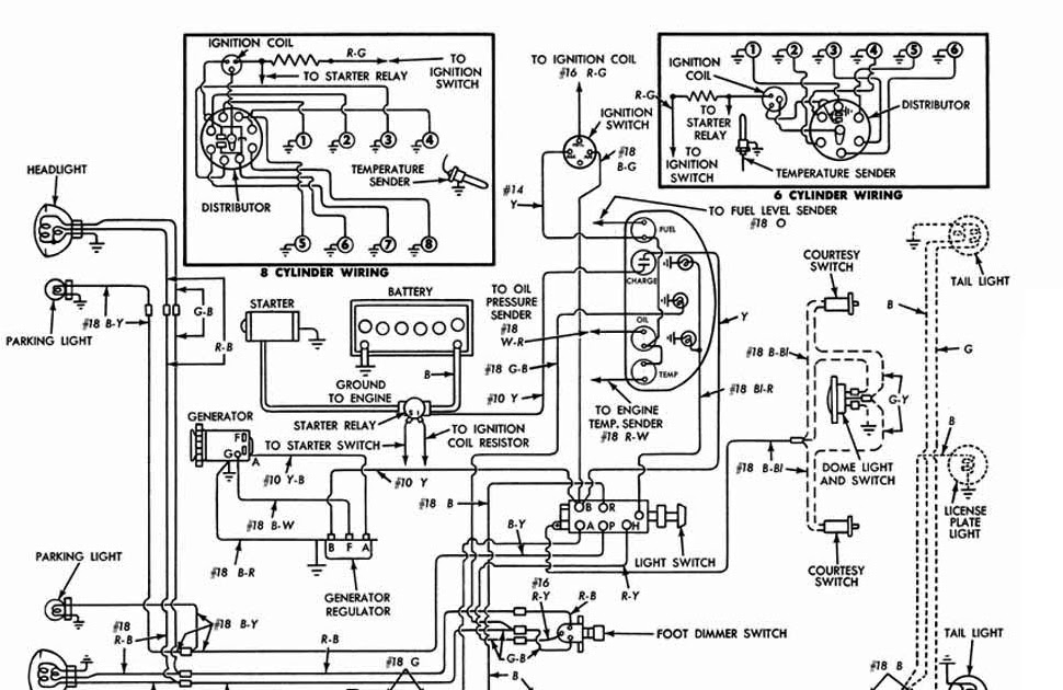 dome light wiring diagram 1956 ford car