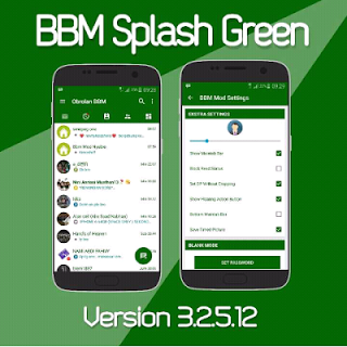 bbm mod splash green apk