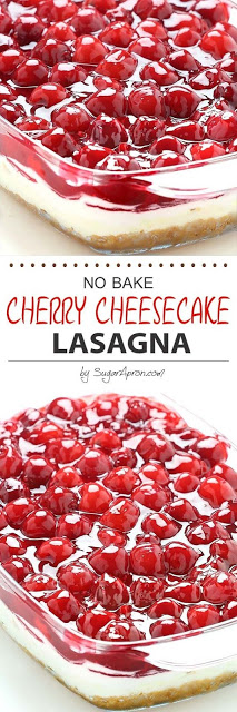 No Bake Cherry Cheesecake Lasagna