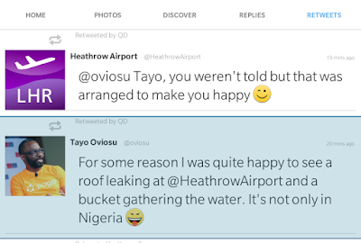 Heathrow Airport Replies Nigerian Over Leaking Airport Roof In London
