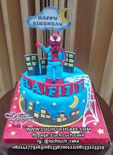 Kue Tart Fondant Spiderman Surabaya - Sidoarjo