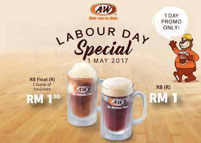 A&W Malaysia Outlet Labour Day Special RB Scoop Ice Cream