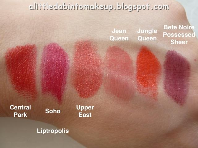 Lipstick queen liptropolis swatches