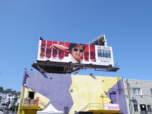 American Made movie billboard