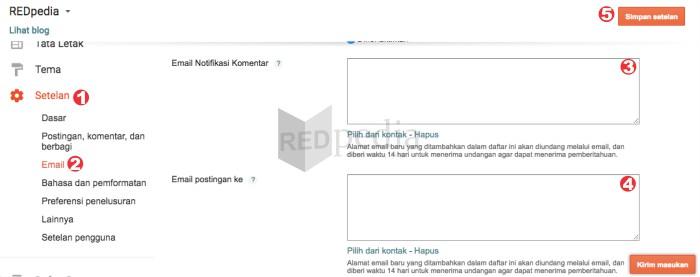Reset email notifikasi komentar baru di Blogger agar dapat berfungsi kembali