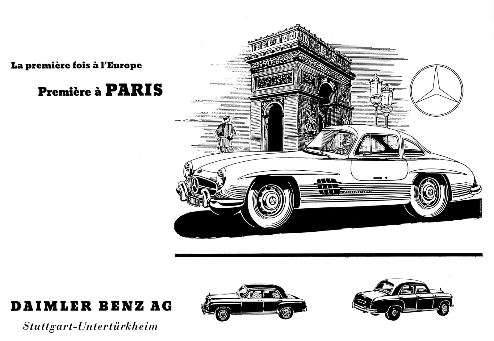 The automobile and american life mercedes benz 300 sl for Mercedes benz poster