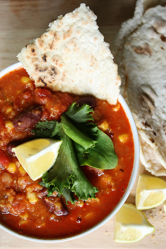 chili con carne, chili non carne, vegan, tortillas, recipe