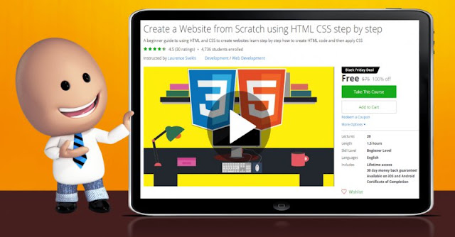 [100% Off] Create a Website from Scratch using HTML CSS step by step| Worth 75$