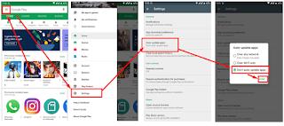 Cara Mematikan atau Menonaktifkan Auto Update aplikasi pada Play Store di Android Kita