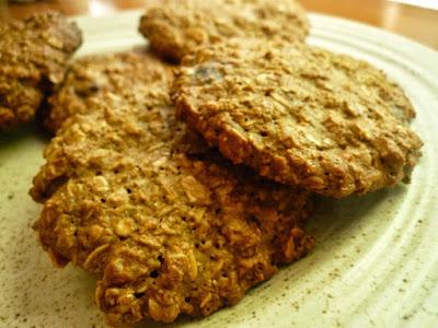 galletas de avena sin mantequilla