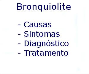 Bronquiolite causas sintomas diagnóstico tratamento prevenção riscos complicações