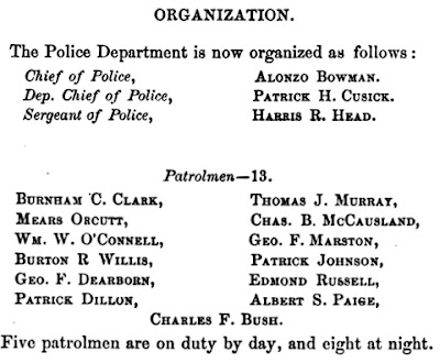 1878 police department organization chart