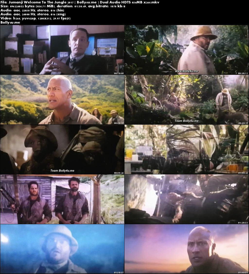 Jumanji Welcome To The Jungle 2017 HDTS 850Mb Hindi Dual Audio x264