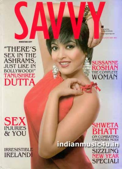 Tanushree Dutta Featured On The Cover Of Savvy