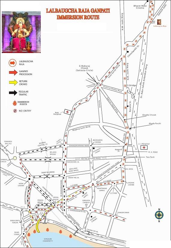 lalbaugcha raja 2016 visarjan route