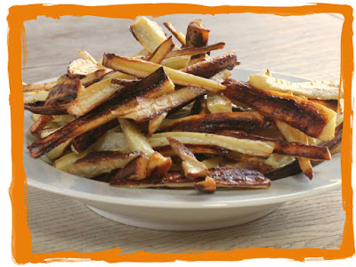 Oven baked parsnip fries