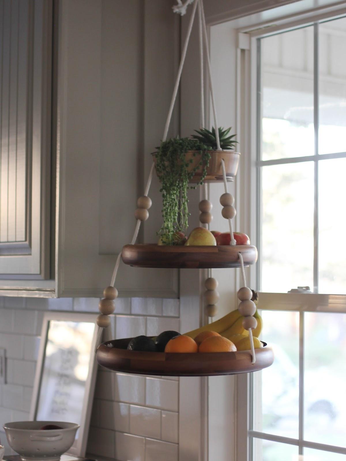 Wooden Hanging Fruit Basket | DIY