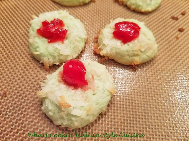 Coconut Cherry Almond Cookies