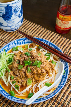 Dan Dan Mian (Noodles in Spicy Chinese Peanut Pork Sauce)