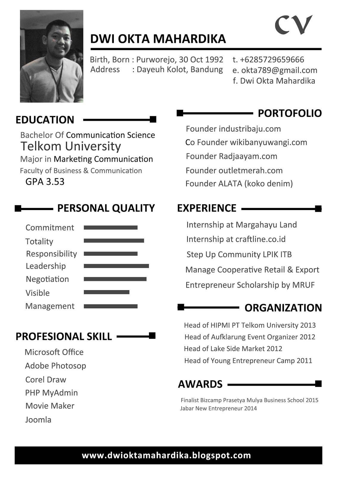 Cv For Business