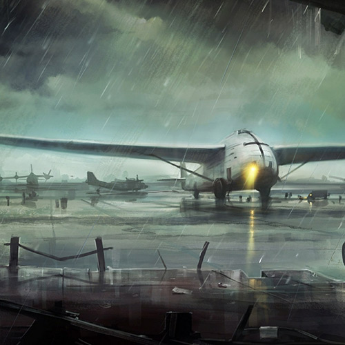 Аirport in The Rain Wallpaper Engine
