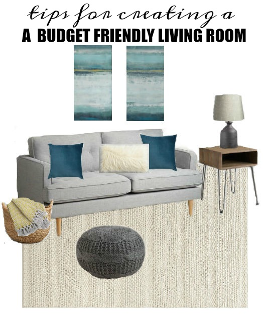 Tips and ideas on how to decorate on a budget and design the perfect living room. www.littlehouseoffour.com