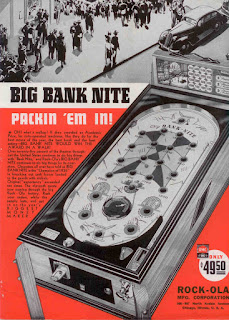 Cartel 1936: Big Bank Nite - Pinball (Rock-Ola Manufacturing Corp)
