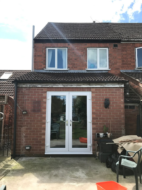 New uPVC french door on house
