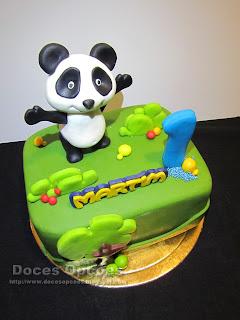 Bolo com o Panda para o 1º aniversário do Martim