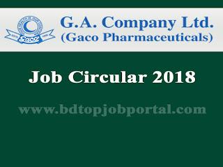 Gaco Pharmaceuticals Job Circular 2018